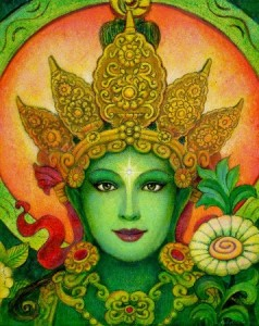 Green Tara Face, by Sue Halstenberg http://www.suehalstenberg.com/goddess_art/green_tara